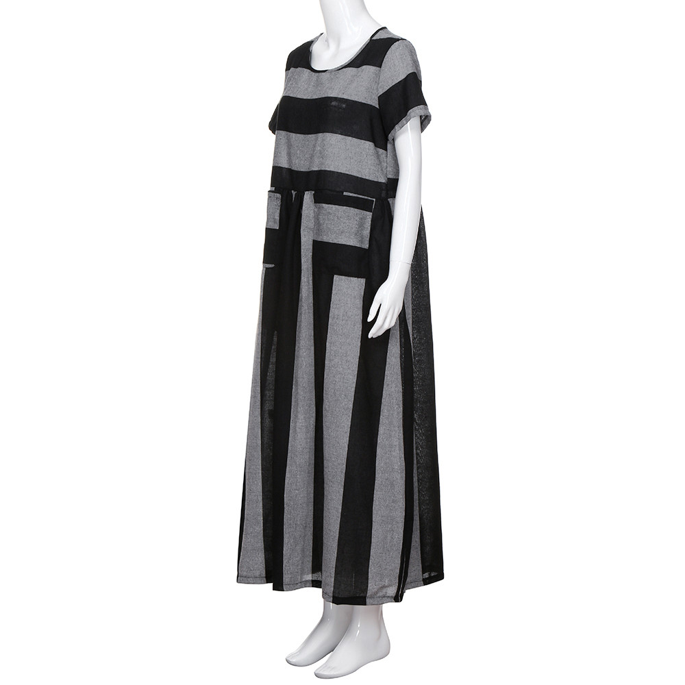 89f84690a1f Telotuny women clothing Cotton Linen Striped maternity dresses women  dresses summer casual Postpartum mother dress JL 18-in Dresses from Mother    Kids on ...