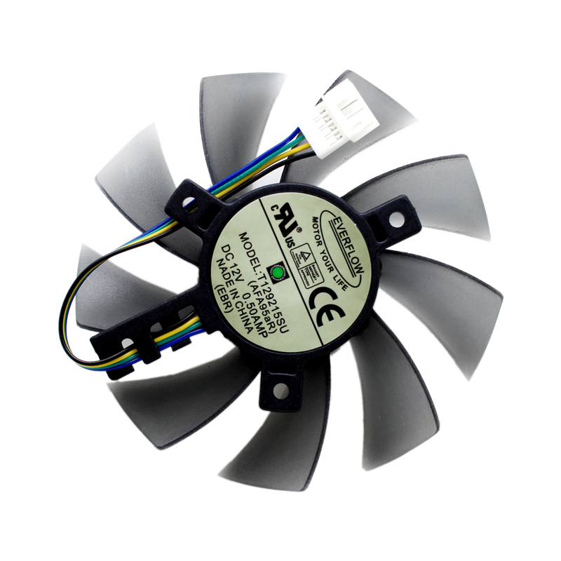 New 85mm T129215SU Cooling fan Replace For ASUS MSI Gigabyte P106 GTX 1060 960 RX 480 460 570 580 R9 290X Video Card Cooler Fan image