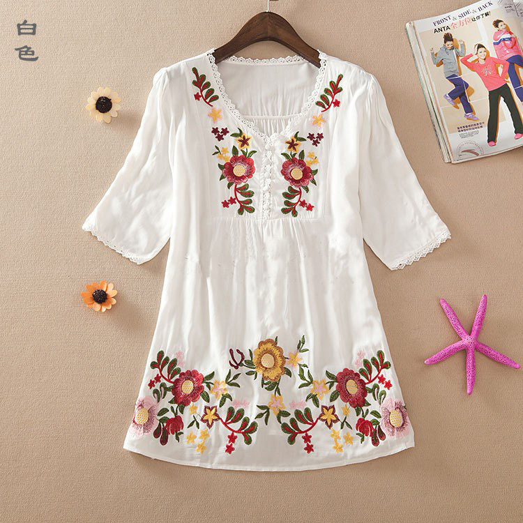 Aliexpress buy new summer embroidery style