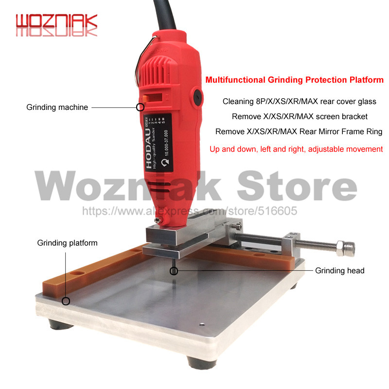WOZNIAK For IPhone Framed Iron Rim Grinding Machine XS Removal Camera Ring Glass Cutting Machine For Removal Of Back Cover