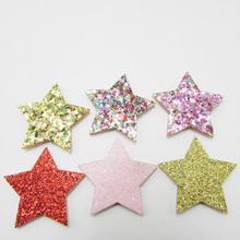 Блестки на 3,5 см с аппликацией в виде звезд, 50 шт., войлочные нашивки «бабочки», тканевые, шляпа, обувь, сумка, украшение для ювелирных изделий