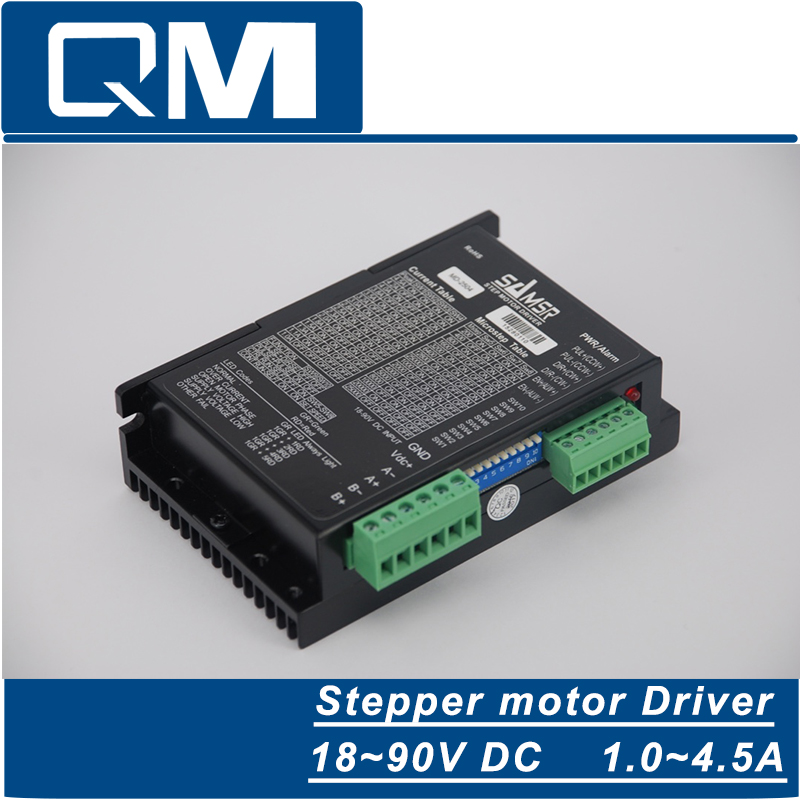 High-precision 2-phase stepper driver MD2504 fit NEMA 17-23 motor 18-90VDC out 1.0A-4.5A cnc robot pump periche корректор цвета out colors personal phase 1 phase 2 2 х 150 мл