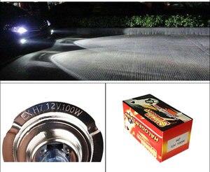 Image 4 - 10 יחידות H7 100 w 12 v סופר מואר לבן ערפל אורות הלוגן הנורה גבוה כוח רכב פנסי מנורת רכב אור מקור חניה 6000 k