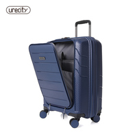 Hot selling Carry On Luggage accommodate computer Spinner Business travel TSA Locks Cabin Size Premium PP free shipping