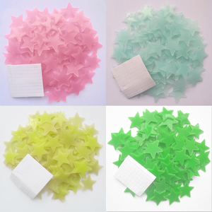 50pcs Pvc Stars Glow Stickers Luminous In Dark Night Fluorescent Wall Art 3D Home Decals For Kids Room Ceiling Switch Decoration