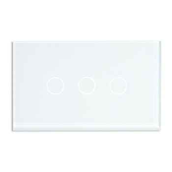 Bseed 240v Touch Switch 3 Gang 1 Way Light Touch Switch With Glass Panel White Touch Wall Switch Us Au Eu Uk 3 gang 1 way touch screen wall switch for lamp touch switch white uk standard
