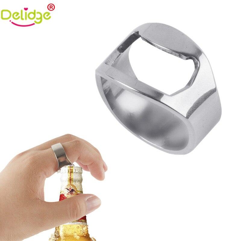 delidge 1pcs silver color ring bottle opener stainless steel finger ring bottle opener beer bar. Black Bedroom Furniture Sets. Home Design Ideas
