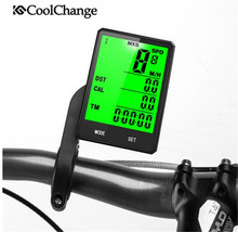 CoolChange Bike Bicycle Computer Wireless Speedometer Waterproof Measurable Temperature Stopwatch