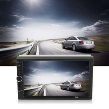 LESHP Doule Din Bluetooth DVD Player Car Vehicle 7 Inch Screen TF Card Auto Multimedia Player
