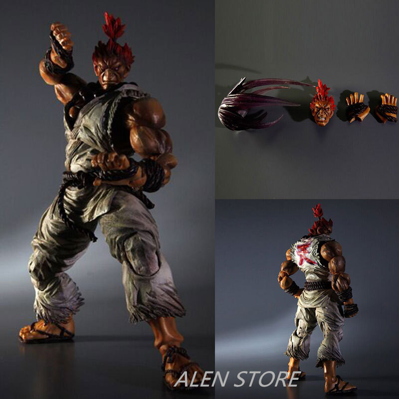 ALEN PLAY ARTS KAI Street Fighter IV 4 Gouki Akuma PVC Action Figure Collectible Model Toy alen 2017 new play arts 27cm titanfall atlas boxed pvc action figure collectible model toy