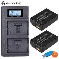2X 1800mAh LP E17 LPE17 LP E17 Camera Battery +LCD Dual USB Charger for Canon EOS M3 M5 M6 750D 760D T6i T6s 800D 8000D Kiss X8i