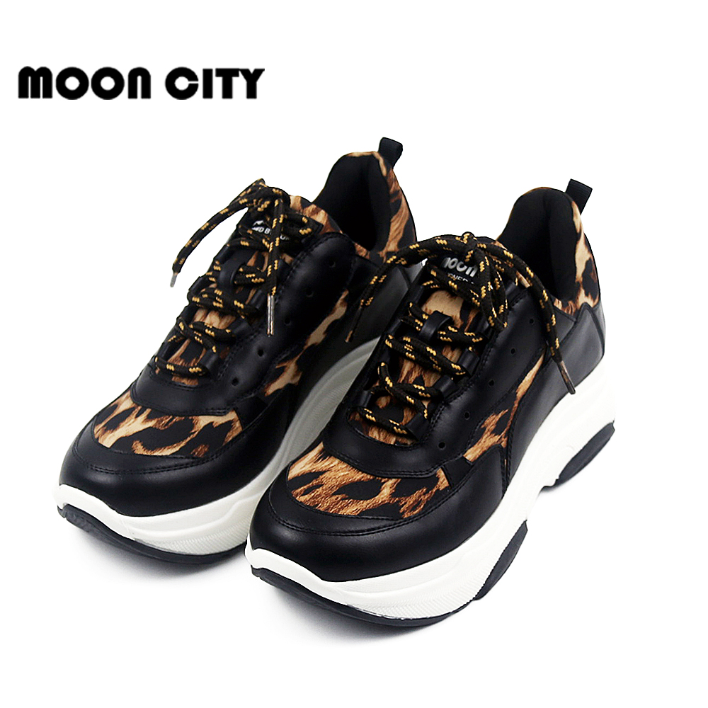 e103fa108 Leopard sneakers 2019 Fashion Spring Women Sneakers Lady Black Road Running  Shoes Famle Trainers Causal Shoes