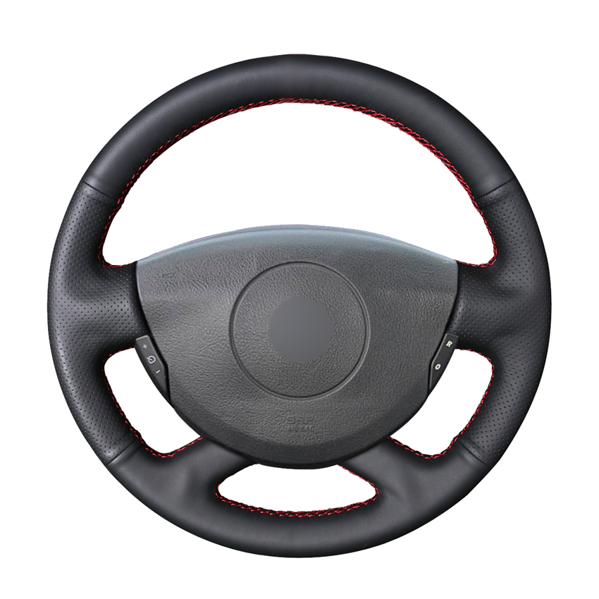 FOR VAUXHALL ASTRA H PERFORATED LEATHER STEERING WHEEL COVER 04-09 DOUBLE STITCH