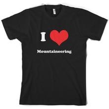 I Love Mountaineering – Mens T-Shirt – 10 Colours – Mountain ClimbingMen'S T-Shirts Summer Style Fashion Swag Men T Shirts.