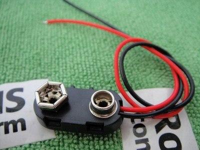 9 в батарея защелкивающийся разъем зажим Жесткий корпус держатель I Тип 15 см 1000 шт