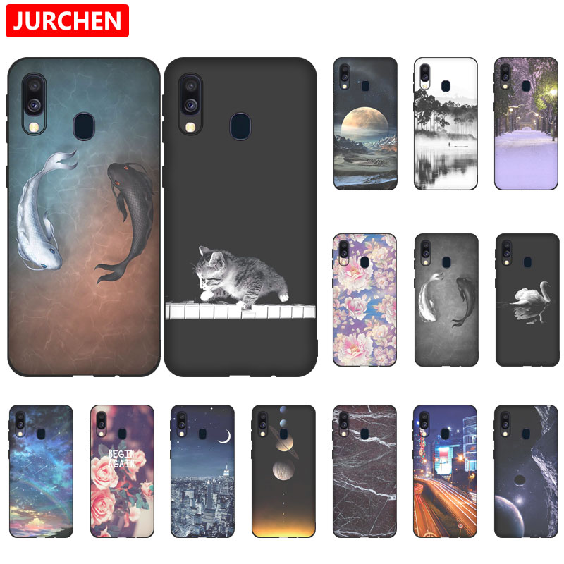 JURCHEN Ultra-thin Cartoon <font><b>Case</b></font> For <font><b>Samsung</b></font> <font><b>Galaxy</b></font> <font><b>A40</b></font> / <font><b>A40</b></font> Dual SIM Cover Soft Back Cover For <font><b>Samsung</b></font> <font><b>Galaxy</b></font> <font><b>A40</b></font> <font><b>Phone</b></font> <font><b>Case</b></font> image