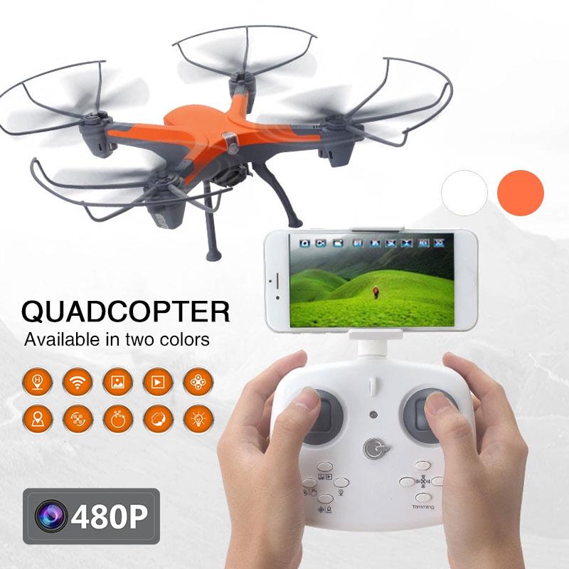 Streng 2018 Nieuwe Intelligente Drone Hoge Prestaties Hover Met 480 P Camera Real-time Zenden Headless Modus Een Klik Terugkeer Quadcopter