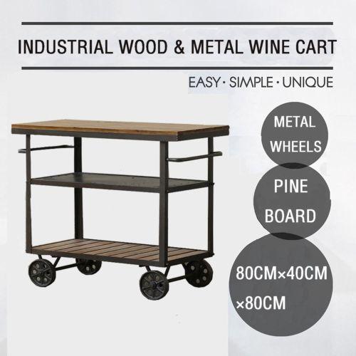 Aliexpress.com : Buy American Bar Furniture Bar Cart Industry LOFT  /recycling Old Fir Furniture Antique Wooden Bar Cart Kitchen Cart With Wheel  From ...