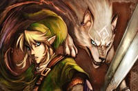 fabric poster custom anime boy elf and white wolf magic fantasy PDM327 for wall art room decor home decoration (frame available)