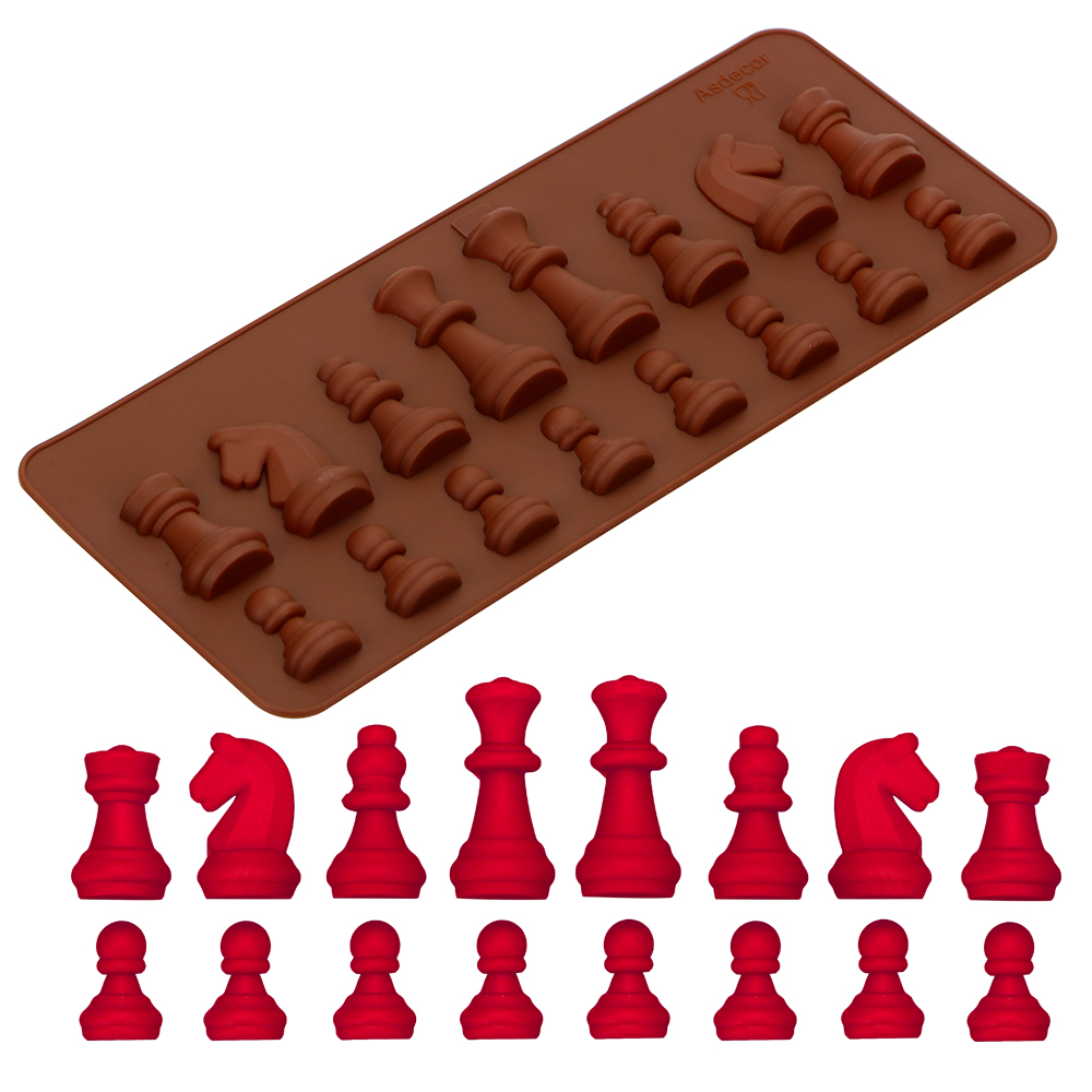 DIY Baking Mould Chess Shaped Chocolate Mold Kitchen Accessories Silicone Ice Sugar Cake Mould Decoration Tools