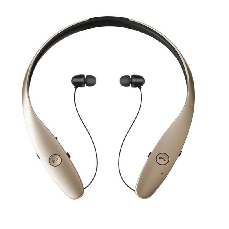 New HBS-900 Wireless Sport Headset Neckband Style Stereo Bluetooth Headphone In-Ear Earbuds Telescopic Earplugs with Mic