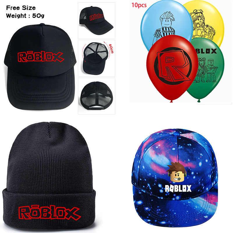 Ajustable juego Roblox hip-hop deportes sombrero de punto gorras de béisbol  de dibujos animados f7bdf0c19d0