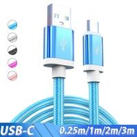 Cable USB tipo C de carga rápida de nailon, 3/2 metros, para Xiaomi mi 9, Note 7 Redmi, Samsung Galaxy S10, plus S9, Huawei P30, Mate 20