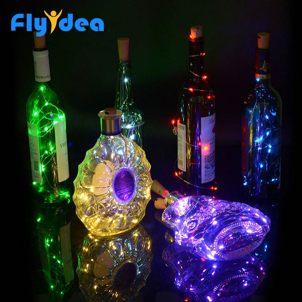 New Year Christmas Holidays Holiday Lights Ornaments Furniture Toys Wine Bottles Decorative Lights LED Cork Wire Lights