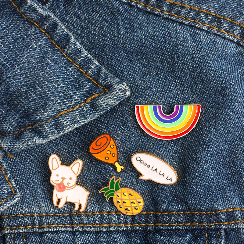 Badges 1pc Cute Telescope Universe Metal Badge Brooch Button Pins Denim Jacket Pin Jewelry Decoration Badge For Clothes Lapel Pins Selected Material