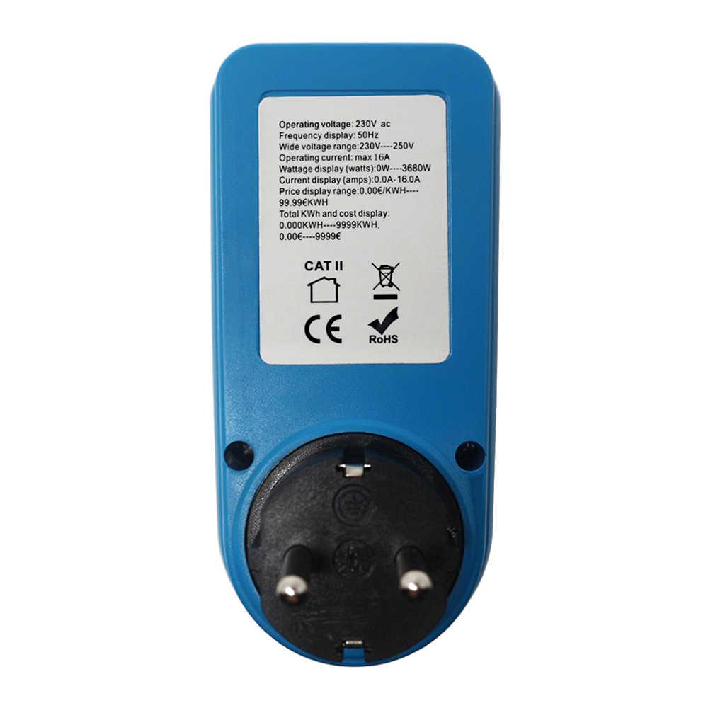 230V 50Hz Contatore di Energia Digitale Misuratore di Potenza AC Spina di UE Presa di Corrente Watt di Energia Elettrica Analyzer Wattmetro Digitale Prezzo display