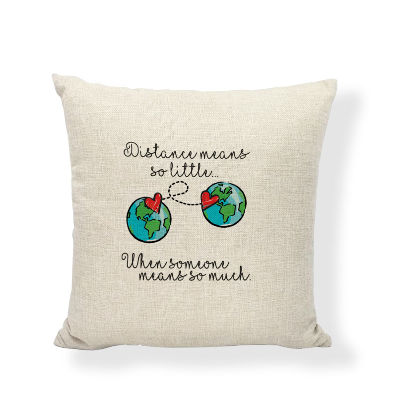 Long Distance Relationship Pillow.Us 2 96 19 Off Long Distance Relationship Creative Cushion Cover Middle Earth Map Poster Travel Pillow Case For Home Sofa Decorate Accessories In
