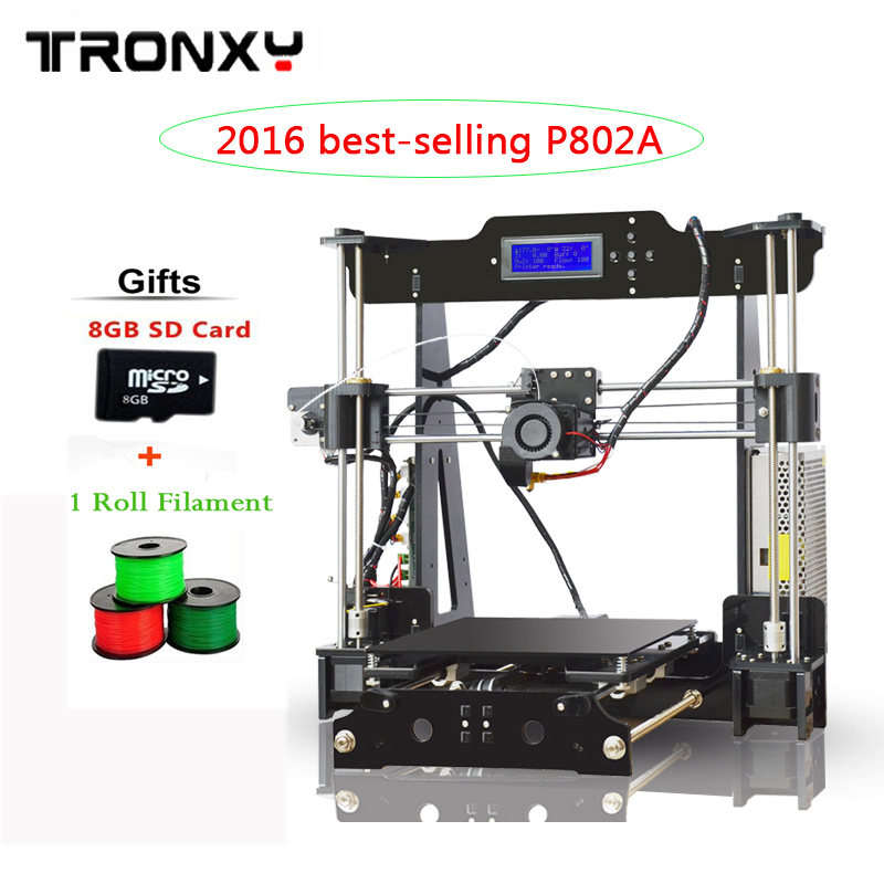 2016 Best-selling High Quality Auto Leveling Precision Reprap 3d Printer DIY kit 1 Roll Filament 8GB SD card AS Gift  high precision reprap prusa i3 3d printer diy kit bowden extruder easy leveling acrylic lcd free shipping sd card filament tool