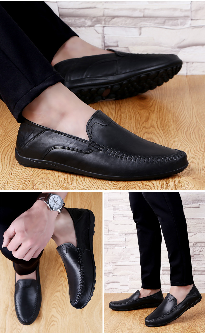 HTB1vASUUpzqK1RjSZFoq6zfcXXaO Genuine Leather Men Casual Shoes Luxury Brand Mens Loafers Moccasins Breathable Slip on Black Driving Shoes Plus Size 37-47