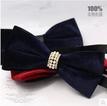 Original Brand Handmade Tie Classical Bow Tie For Men Luxury Tie Vintage Pearl Slim Tie Wedding Dress Accessories FREE SHIPPING