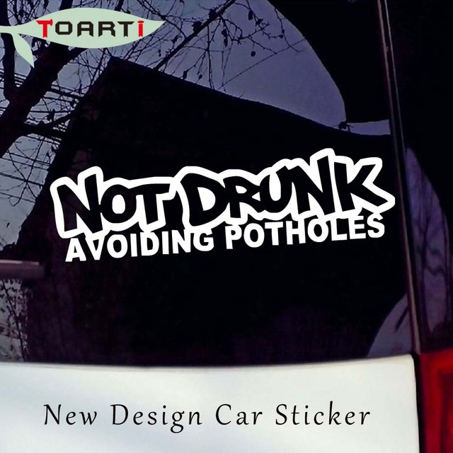 2914cm not drunk avoiding potholes car stickers funny car styling drift car lowered truck