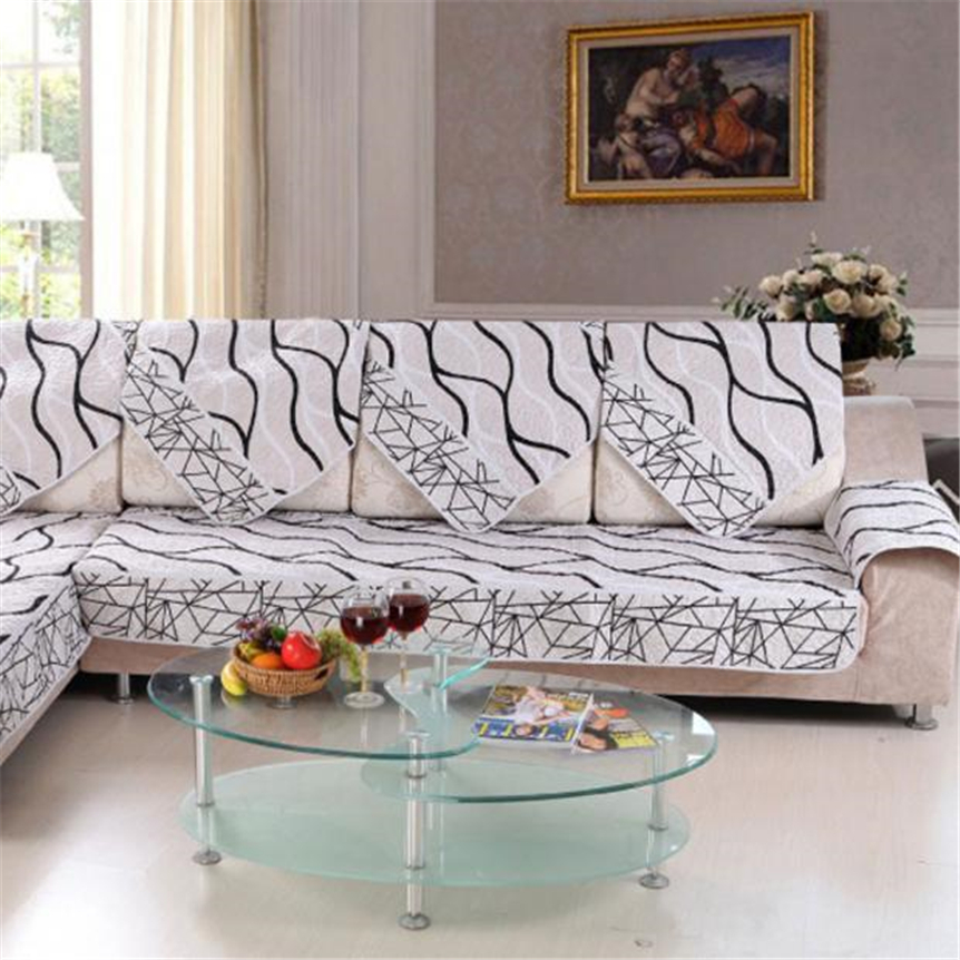 Ouneed Sofa Cover Black And White Striped Sofa Sectional