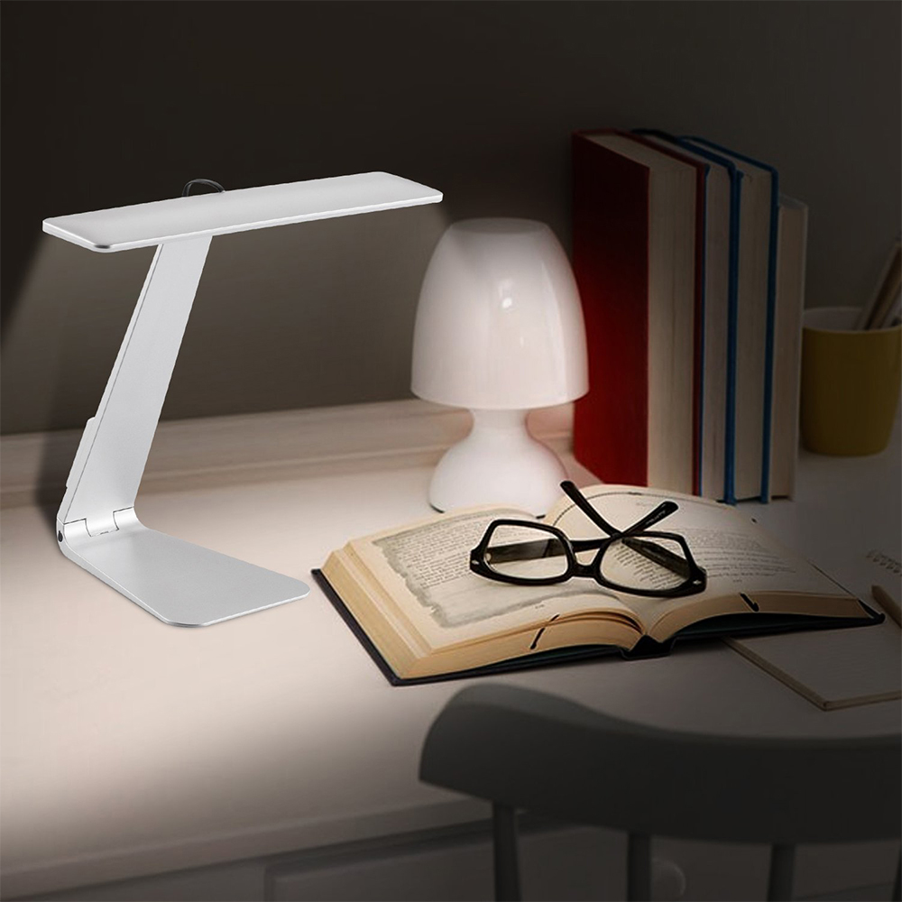 Ultrathin Foldable Desk Lamp Touch Switch Night Light With Non-Slip Base, Easy Charged Micro USB Port ...