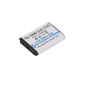 Image 4 - 1100mAh SLB 1137D SLB 1137D Camera Battery For SAMSUNG TL34HD NV106 HD i85 i100 NV103 NV30