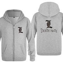 Hoodie Men Anime Death Note Printed Zipper Mens Hoodies Fleece Long Sleeve  Jackets Coat Winter Skate 3e853a21c