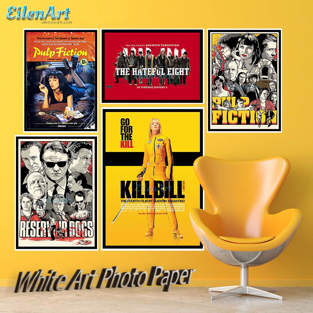 Django Unchained Reservoir Dogs Kill Bill Quentin Tarantino Movie Posters Prints Wall Art Painting Decor Art Paper No Frame-in Painting & Calligraphy ...