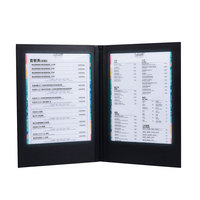 LED Restaurant Menu Covers A4 Size Cafe Menu List Folder Bar List Holder Covenience To Use