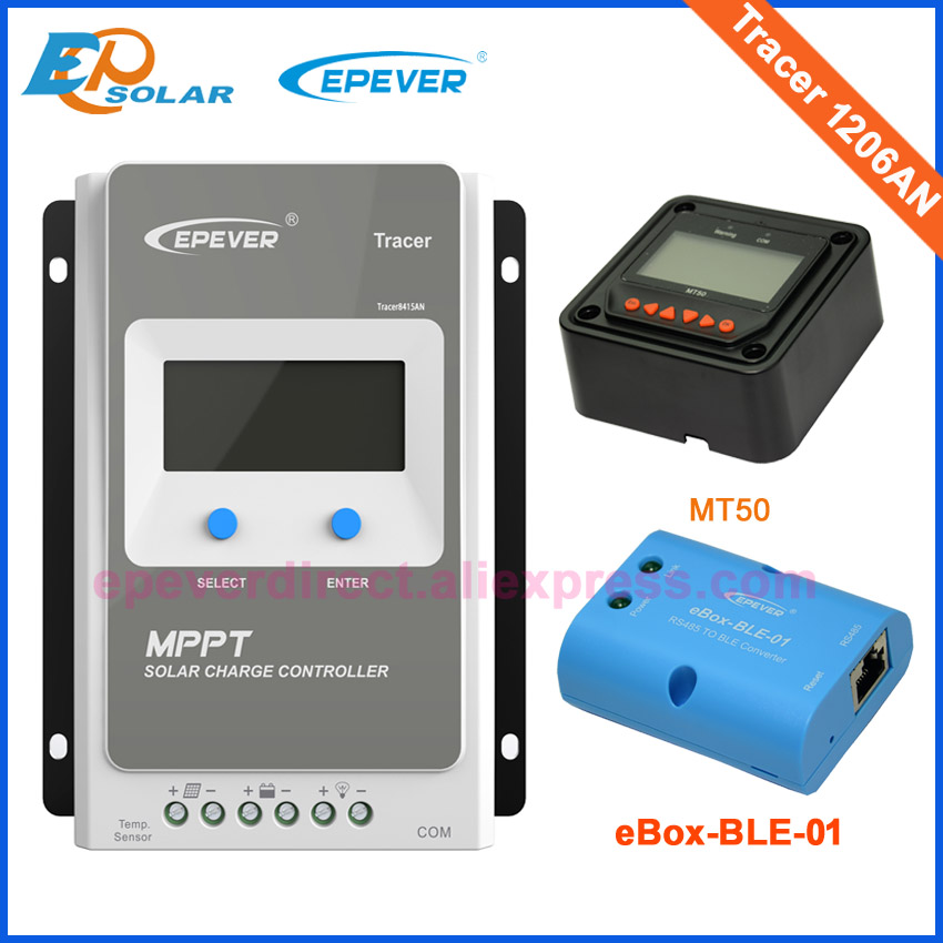 EPEVER 10A 20A MPPT Solar Charge Controller 12V24V Tracer AN Solar Panel Power Regulator Charger Max PV 60V Tracer1206AN 2206AN