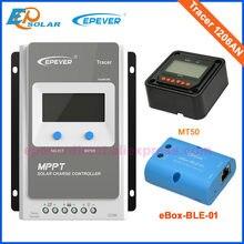EPEVER contrôleur de Charge solaire 10A 20A MPPT   12V24V, traceur, panneau solaire, régulateur de puissance, chargeur Max PV 60V, Tracer1206AN 2206AN