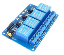5pcs5V 4-Channel Relay Module Shield for Arduino ARM PIC AVR DSP Electronic 5V 4 Channel Relay.4 road 5V Relay Module
