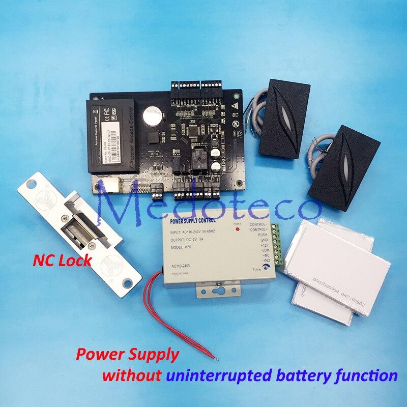 купить DIY Full C3-100 Access Control Panel Kit + Optional uninterrupted battery function Power + NC Strike Lock + KR101 Rfid Reader онлайн