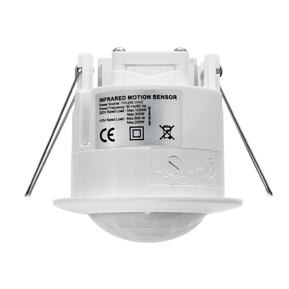 2 PCS High quality 110V-220V/AC Ceiling mounting Auto infrared body motion sensor light switch ( ET041) high quality 360 degree ceiling 110v ac 220v ac inlay sensor switch pir infrared motion sensor light lamp switch 1pc et041