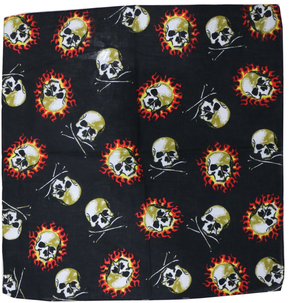 Free Shipping 2018 New Hip Hop Outdoor Punk Skull Bone Flame Bandanas For Mens Bicycle