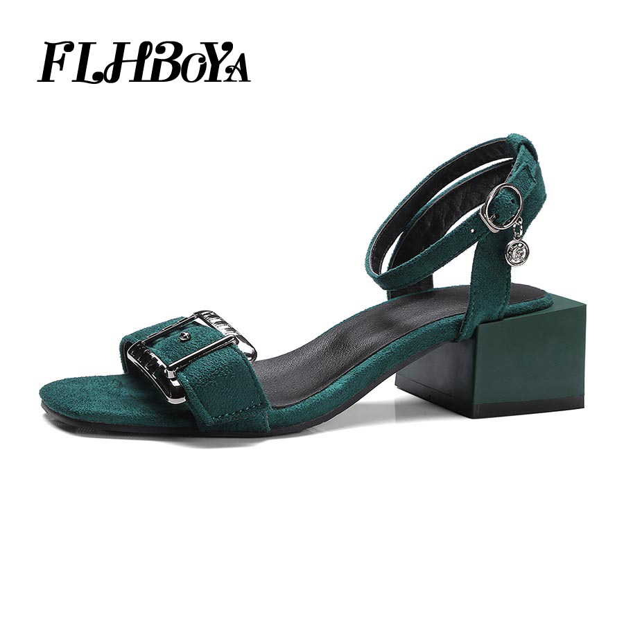 FLHBOYA Sexy Buckle Ankle Strap Square Block Yellow Heeled Chunky Women Sandals Open Toe Fashion High Heels Summer Party Shoes fashion design children vests baby girls outerwear coats kids vest toddler girl jackets autumn tassel waistcoats girl clothes