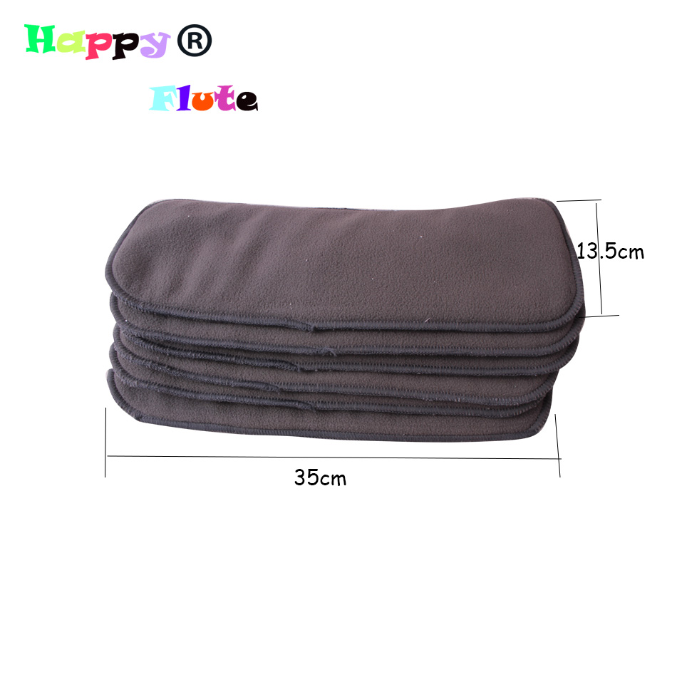 HappyFlute Bamboo Charcoal Inserts Baby Nappy Inserts Diaper liner 10pcs Packing 2layers microfiber +2 layers Microfiber insert