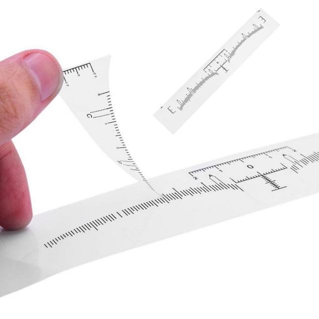 50Pcs Disposable Eyebrow Stencil Makeup Microblading Measure Tattoo Ruler Beauty Tool 2U912 3